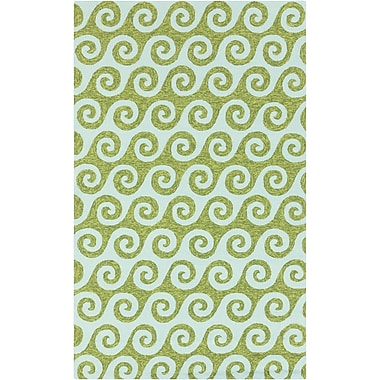 Surya Rain RAI1139-58 Hand Hooked Rug, 5' x 8' Rectangle