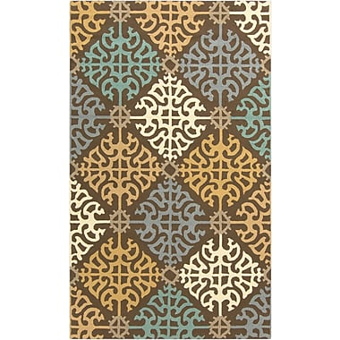 Surya Rain RAI1152-35 Hand Hooked Rug, 3' x 5' Rectangle
