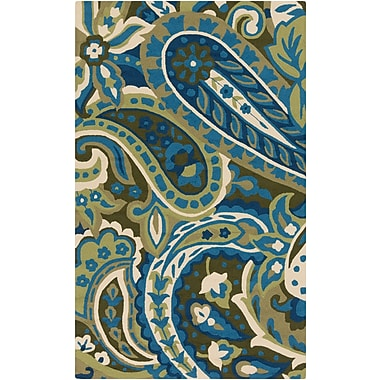 Surya Rain RAI1159-58 Hand Hooked Rug, 5' x 8' Rectangle