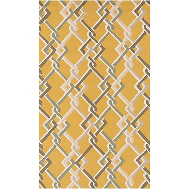 Surya Rain RAI1215-58 Hand Hooked Rug, 5' x 8' Rectangle