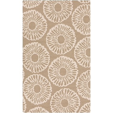 Surya Rain RAI1229-58 Hand Hooked Rug, 5' x 8' Rectangle