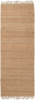 """Surya J-268ute Natural J8 Hand Crafted Rug, 2'6"""" x 8' Rectangle"""