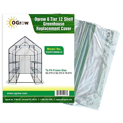 OGrow 6 Tier 12 Shelf Greenhouse Replacement Cover WYF078277111655