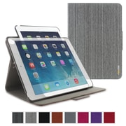 rOOCASE Orb Leather 360 Deg Rotating Folio Smart Case for iPad Air 2, Canvas Gray