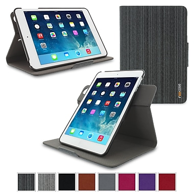 roocase APMINIDV360CBK Polycarbonate Dual-View Detachable Stand Case for Apple iPad Mini, Canvas Black