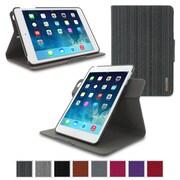 roocase APMINIDV360CBK Polycarbonate Dual-View Detachable Stand Case for Apple iPad Mini, Canvas Black