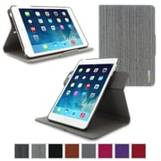 rOOCASE Orb Leather 360 Deg Rotating Dual-View Folio Smart Case Cover for iPad Mini with Retina Display, Canvas Gray