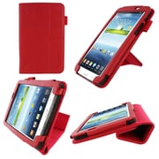 """rOOCASE Origami Slim Shell Case Cover For 7"""" Samsung Galaxy Tab 3, Red"""