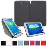 """rOOCASE Origami Slim Shell Case Cover For 8"""" Samsung Galaxy Tab 3, Gray"""