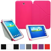 """rOOCASE Origami Slim Shell Case Cover For 8"""" Samsung Galaxy Tab 3, Magenta"""