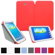 """rOOCASE Origami Slim Shell Case Cover For 8"""" Samsung Galaxy Tab 3, Red"""