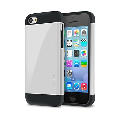 rOOCASE Slim-Fit Dual Layer Case For iPhone 5C, White