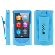 rOOCASE Slim Hybrid Skin Case Cover With Holster For iPod Nano 7, Blue