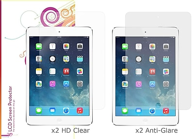 rOOCASE Anti-Glare HD Screen Protector For iPad Mini With Retina, Matte/Clear, 4/Pack
