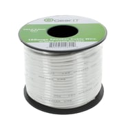 GearIT 50' High Quality 16AWG Speaker Wire Cable, White