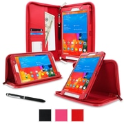 "rOOCASE Executive Carrying Case For 8.4"" Samsung Galaxy Tab Pro, Red"