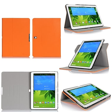 GearIT Spinner Folio Case Cover For Samsung Galaxy Tab Pro 10.1, Orange