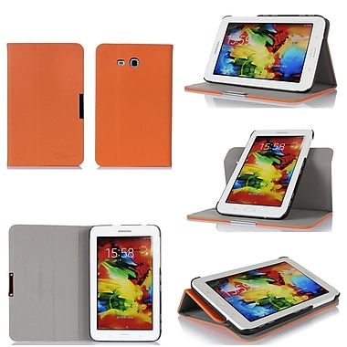 GearIT Spinner Folio Case Cover For Samsung Galaxy Tab 3 Lite 7.0, Orange