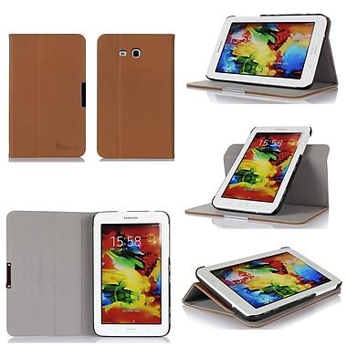 GearIT Spinner Folio Case Cover For Samsung Galaxy Tab 3 Lite 7.0, Beige