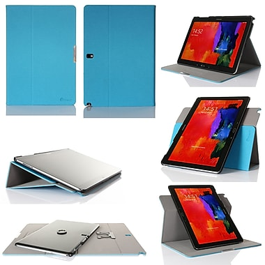 GearIT Spinner Folio Case Cover For Samsung Galaxy Note Pro 12.2, Blue