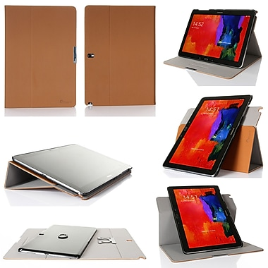 GearIT Spinner Folio Case Cover For Samsung Galaxy Note Pro 12.2, Beige