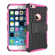 "GearIT Apple iPhone 6 4.7"" Heavy Duty Armor Hybrid Rugged Stand Case, Pink"