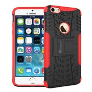GearIT iPhone 6 Hybrid Rugged Stand Case, Red