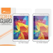 "rOOCASE Anti-Glare HD Screen Protector For 8"" Samsung Galaxy Tab 4, Matte/Clear, 4/Pack"