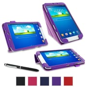 """rOOCASE Origami Case Cover For 8"""" Samsung Galaxy Tab 3, Purple"""