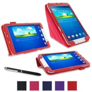 """rOOCASE Origami Case Cover For 8"""" Samsung Galaxy Tab 3, Red"""