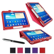"""rOOCASE Origami Case Cover For 10.1"""" Samsung Galaxy Tab 3, Red"""