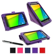 rOOCASE Origami Case Cover For Google Nexus 7 FHD, Purple