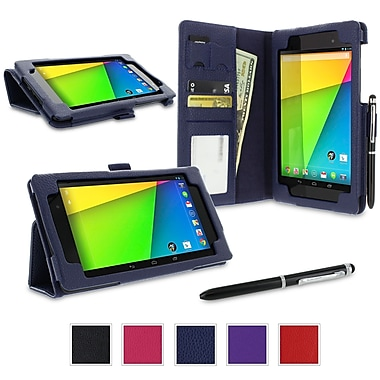 rOOCASE Dual Station Case Cover For Google Nexus 7 FHD, Navy