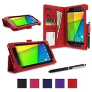 rOOCASE Dual Station Case Cover For Google Nexus 7 FHD, Red