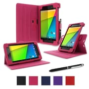 rOOCASE Dual-View Case Cover For Google Nexus 7 FHD, Magenta