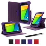 rOOCASE Dual-View Case Cover For Google Nexus 7 FHD, Purple