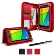 rOOCASE Executive Case Cover For Google Nexus 7 FHD, Red