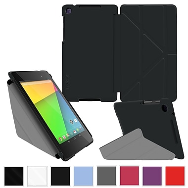 rOOCASE Origami Slim Shell Case Cover For Google Nexus 7 FHD, Black