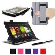 "rOOCASE Slim-Fit Folio Case Cover For Amazon Kindle Fire HDX 7"", Black"