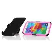 GearIT High Impact Hybrid Armor Case Cover With Stand Holster For Samsung Galaxy S5, Magenta
