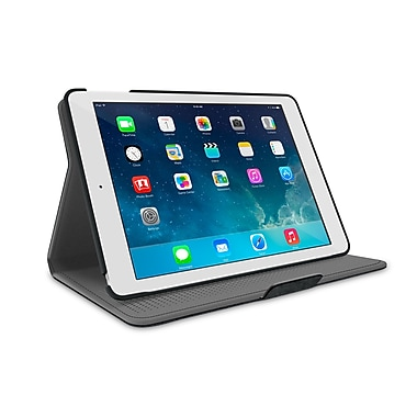 roocase APAIRDV360CBK Polycarbonate 360 Rotating Dual-View Detachable Stand Case for Apple iPad Air 5th Generation, Canvas Black