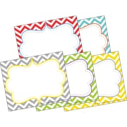 Barker Creek All Grades Self-Adhesive Name Tag, Beautiful Chevron, 45/Pack