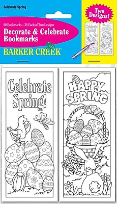 Barker Creek Celebrate Spring Bookmark Set, 60/Pack