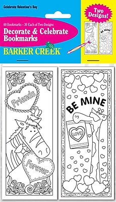 Barker Creek Celebrate Valentine's Day Bookmark Set, 60/Pack