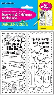 Barker Creek Celebrate 100th Day Bookmark Set, 60/Pack