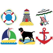 Barker Creek Double-Sided Accents, Nautical Chevron