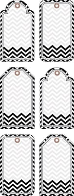 Barker Creek Double-Sided Accents, Black Tie Affair Chevron, 36/Pack