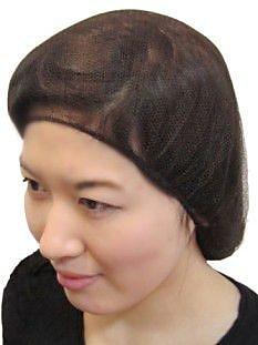 Keystone 109HPI-21-BK Latex Free Nylon Black Hair Net, 21