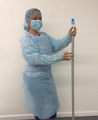 Keystone ISO-TL-55 Polyethylene Isolation Gown, Blue