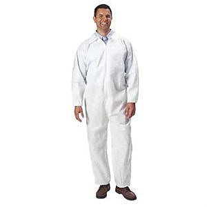 Keystone CVL-NW-3XL White Polypropylene Disposable Coverall, 3XL